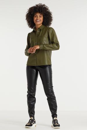 blouse NMHILL donkergroen