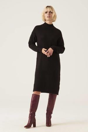 gebreide jurk met wol zwart