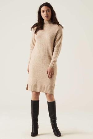 gebreide jurk met wol beige