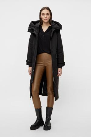 gewatteerde jas OBJKATIE van gerecycled polyester zwart
