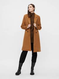 OBJECT  coat OBJLINEA met wol lichtbruin, Lichtbruin
