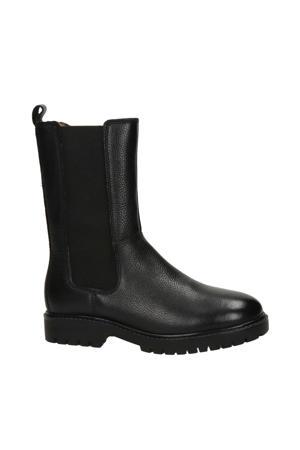leren laarzen zwart