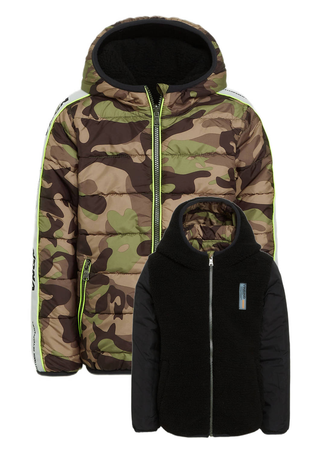 Vingino reversible gewatteerde jas Teson met camouflageprint 239 ultra army, 239 Ultra Army