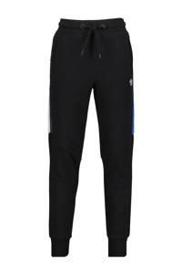 Vingino skinny joggingbroek Sky met zijstreep zwart, Zwart