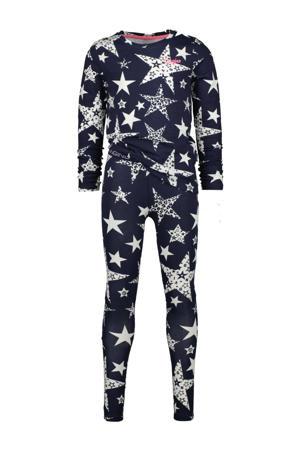 pyjama Wina met all over print donkerblauw/wit