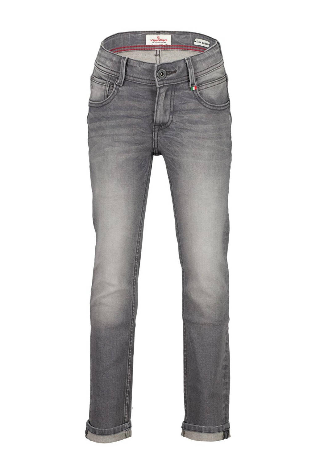 Vingino slim fit jeans Danny mid grey, Mid Grey