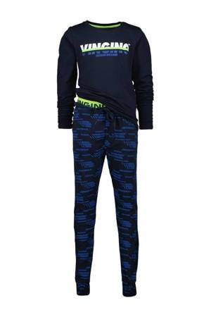 pyjama Wimos met logo donkerblauw