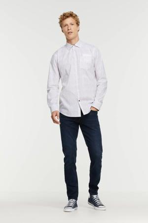 regular fit overhemd met all over print 7072 bright white