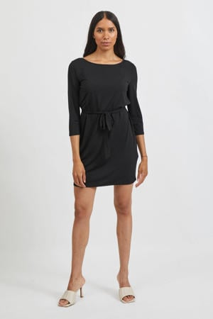 jurk VIEBONI met ceintuur zwart