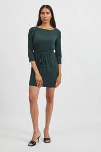 VILA jurk VIEBONI met ceintuur groen, Groen