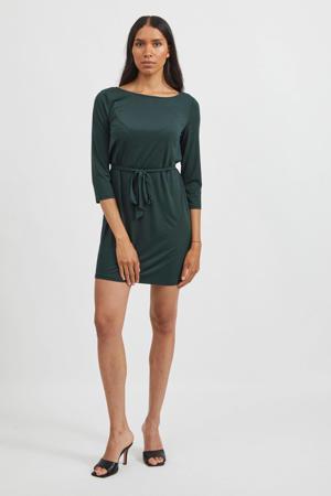jurk VIEBONI met ceintuur groen