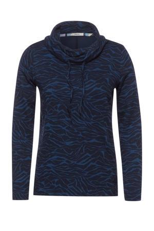 trui met zebraprint blauw