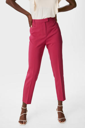 slim fit 7/8 pantalon fuchsia