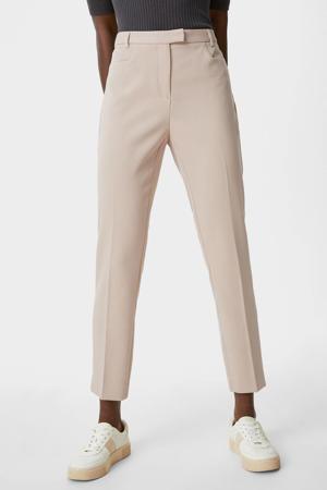 slim fit 7/8 pantalon beige