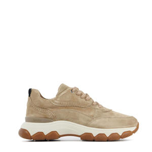 57062 Coco Tess  suède chunky sneakers beige