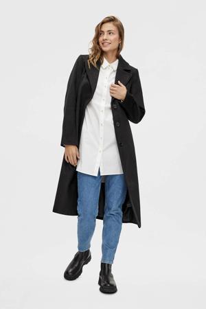 coat Isun met ceintuur zwart