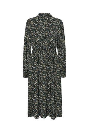 jurk VMSAGA van gerecycled polyester zwart/groen