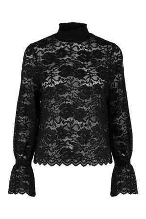 blouse PCEMILY met kant zwart