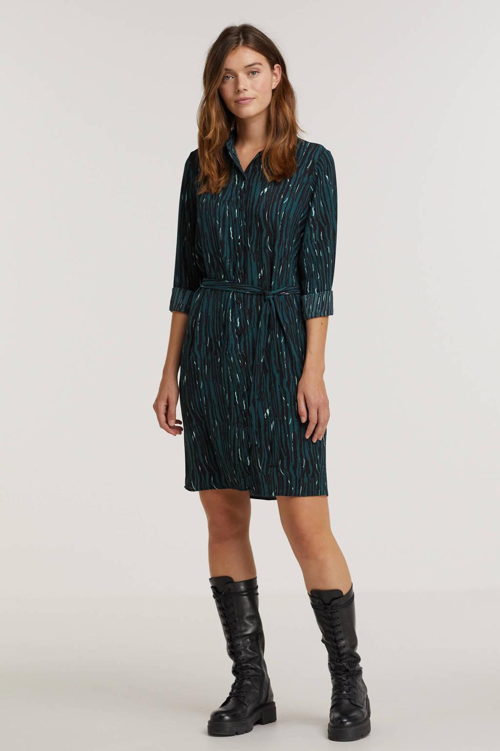 VERO MODA blousejurk VMSAGA  van gerecycled polyester groen, Groen