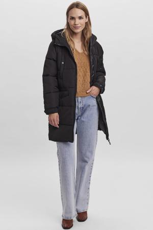 gewatteerde jas VMELOIS van gerecycled polyester zwart