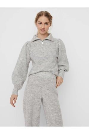 trui VMMAGDA  van gerecycled polyester grijs