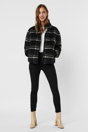 geruite gewatteerde jas VMAMILIA  zwart/wit