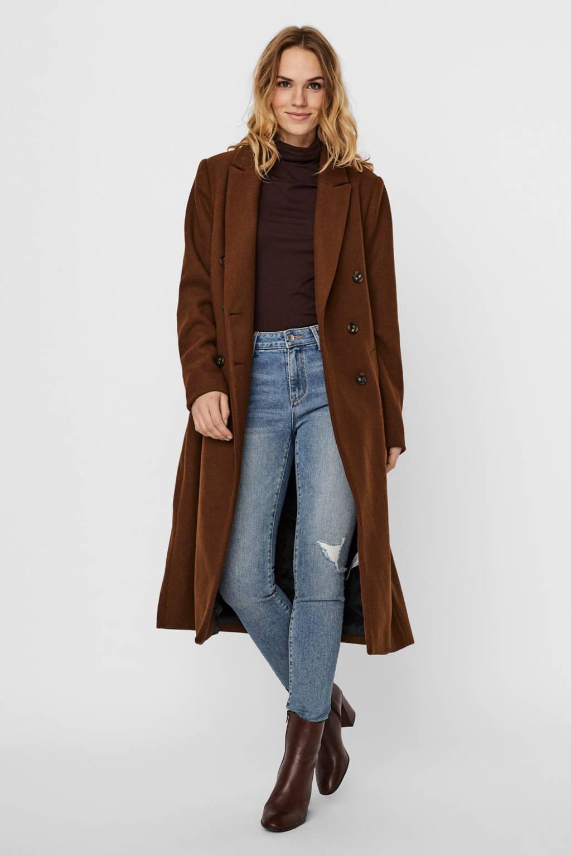 VERO MODA  coat VMCLASSOLIVIA bruin, Bruin