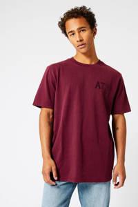 America Today T-shirt Erra van biologisch katoen dark red, Dark Red