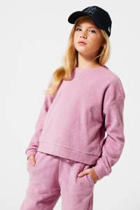 America Today Junior sweater Mia van biologisch katoen old pink, Old Pink