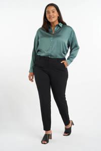 MS Mode slim fit pantalon zwart, Zwart