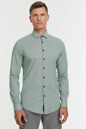 regular fit overhemd met all over print green