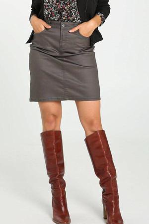 coated rok donkergroen