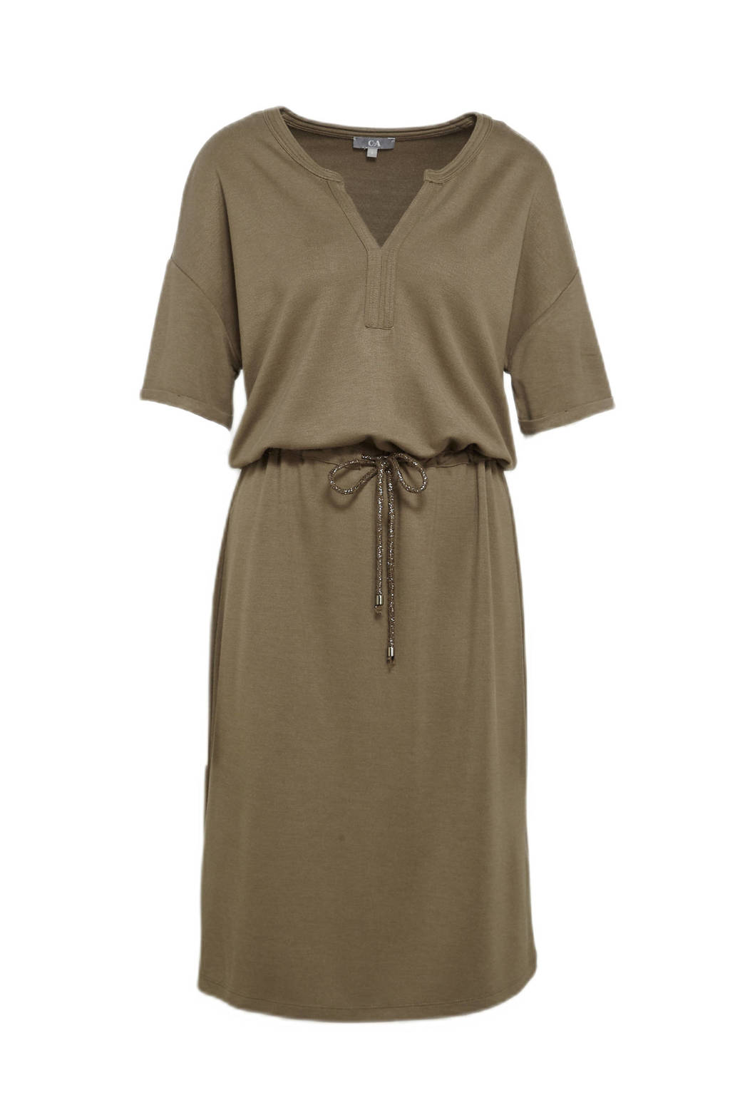C&A jurk met glitters olijfgroen, Olijfgroen