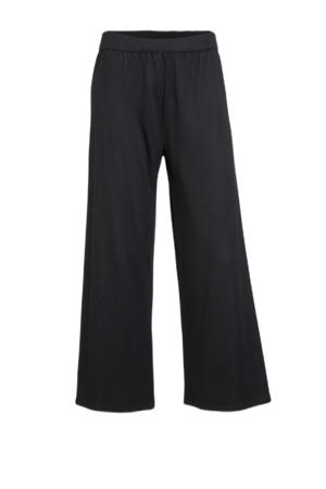 wide leg pantalon zwart