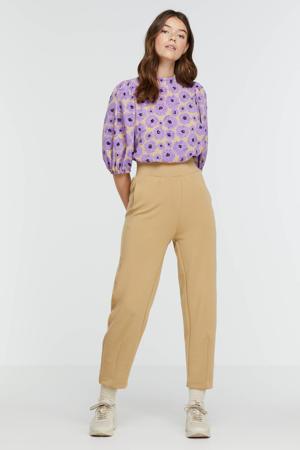 gebloemde blouse Ventia-ms lila