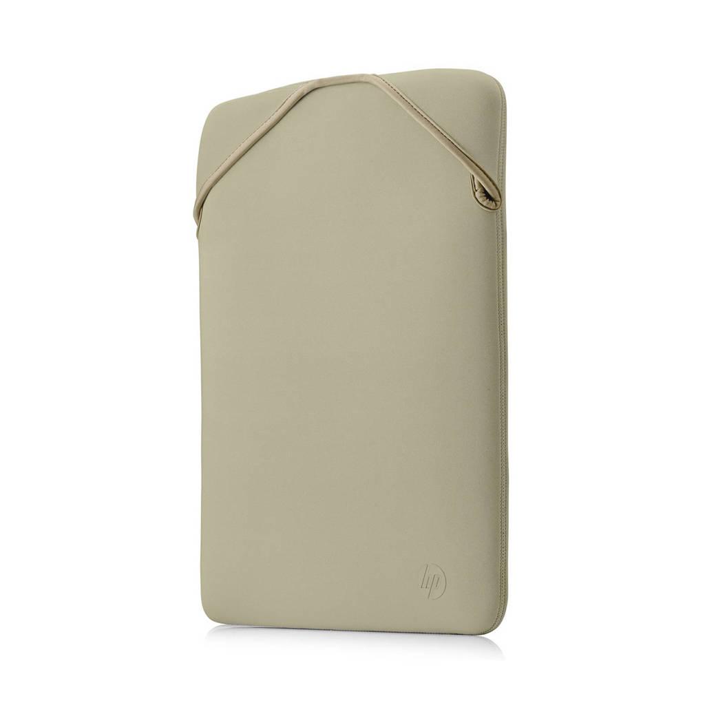 HP Reversible 14.1 inch laptop sleeve (zwart/goud), Zwart/goud