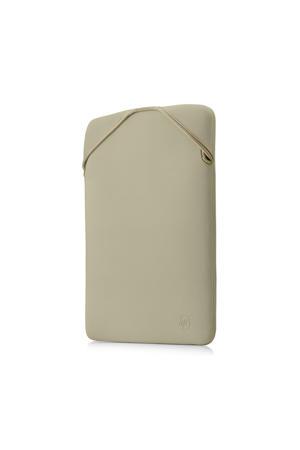 Reversible 14.1 inch laptop sleeve (zwart/goud)