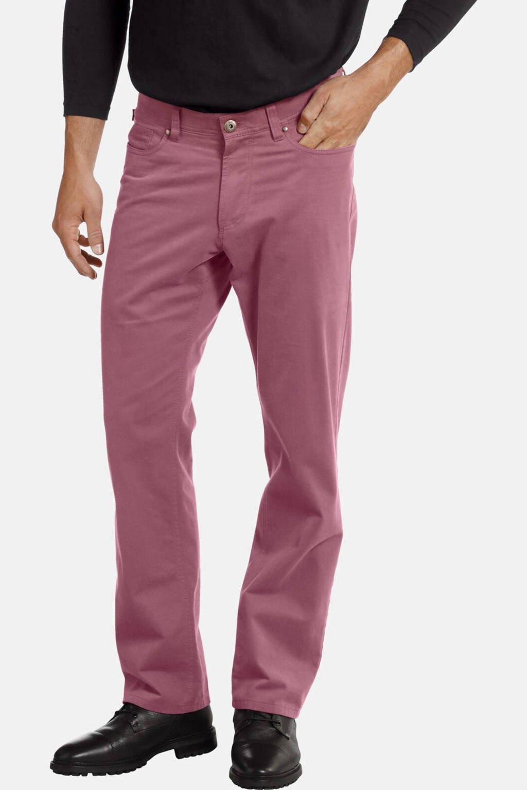 Jan Vanderstorm loose fit broek LORENS Plus Size roze, Roze