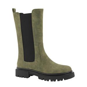 hoge chelsea boots kaki