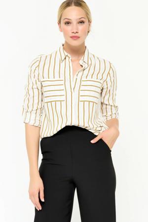 gestreepte blouse ecru/oker