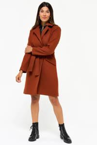 LOLALIZA  coat met wol roodbruin, Roodbruin
