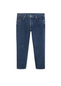 Mango Plus Size straight fit jeans blauw, Blauw