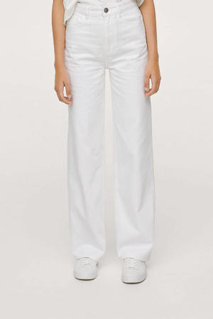 high waist wideleg jeans wit