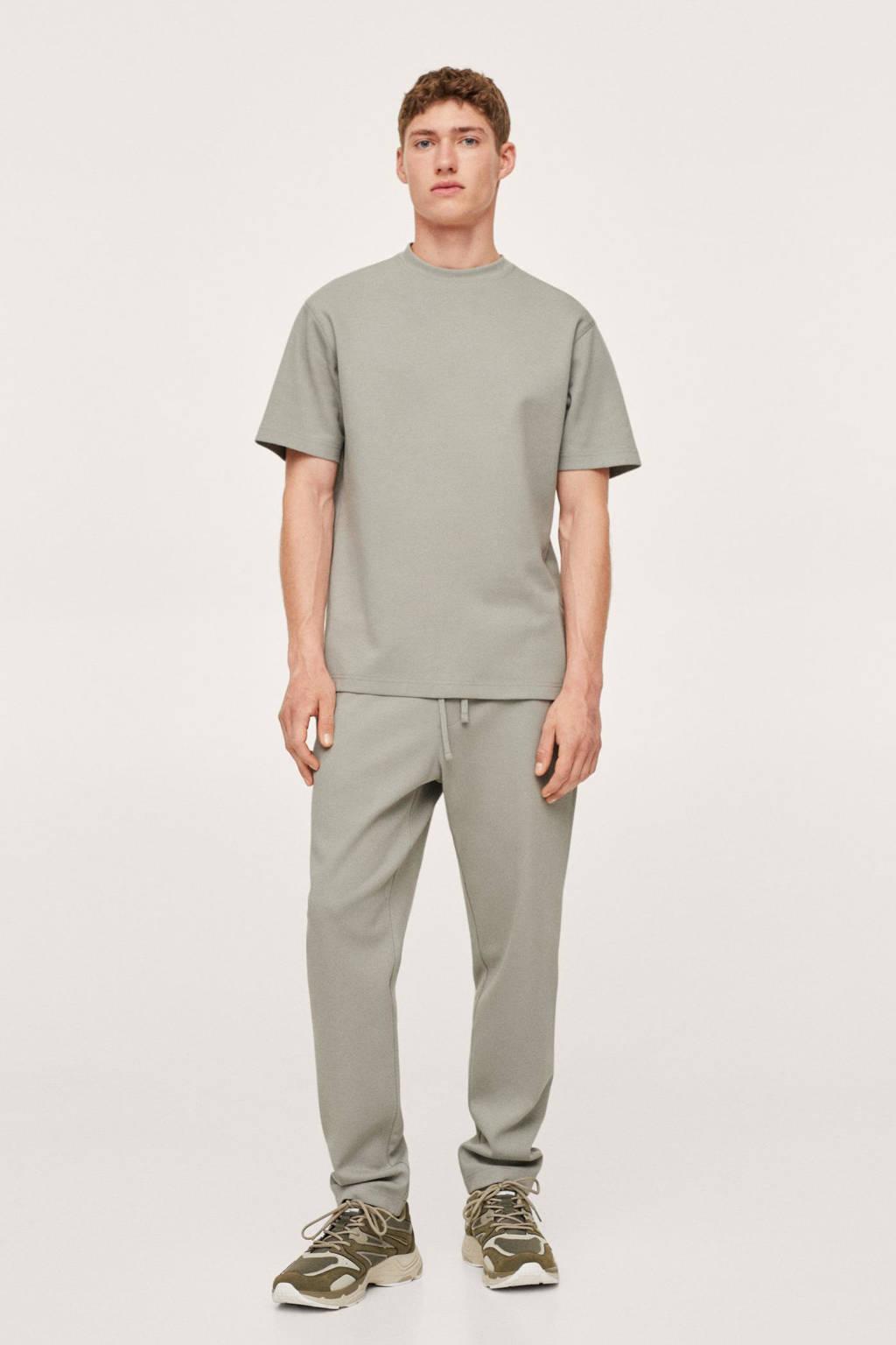 Mango Man regular fit T-shirt groen, Groen