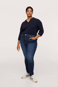 Mango Plus Size high waist skinny jeans dark denim, Dark denim