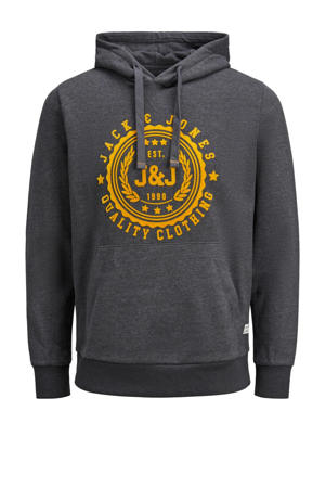 sweater met logo dark grey melange