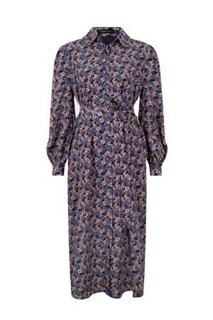 gebloemde blousejurk Dress Valentina blauw/multi