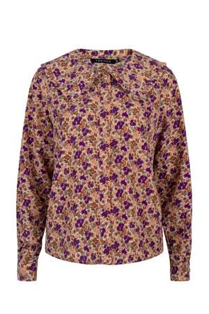 gebloemde blouse Blouse Cheyenne purple flower