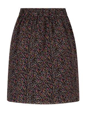 gebloemde rok Skirt Leoni zwart