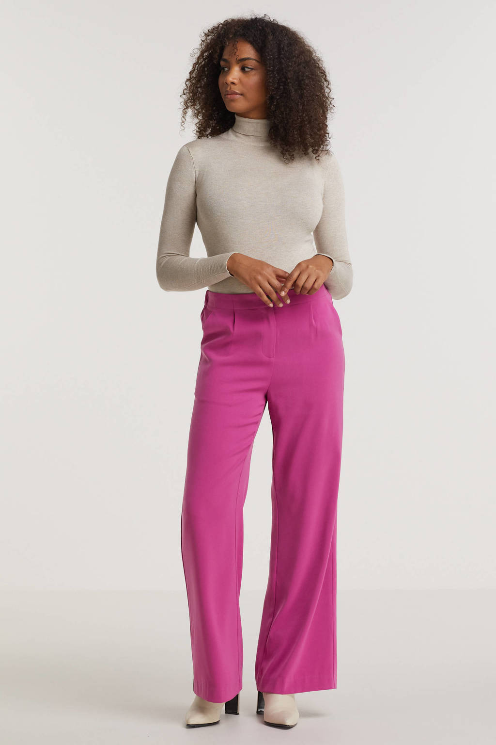 Ydence high waist wide leg pantalon Pants Solange purple, Purple